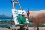 アートに目覚めた豚さん、今日の作品は!?