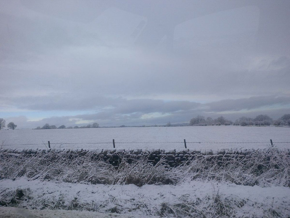 It was a snowy drive down from the north of England