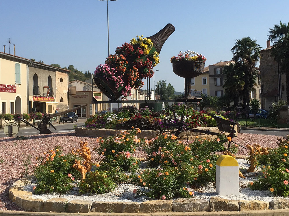 Fabulous roundabout at Limoux, home of one of France's other bubbly wines