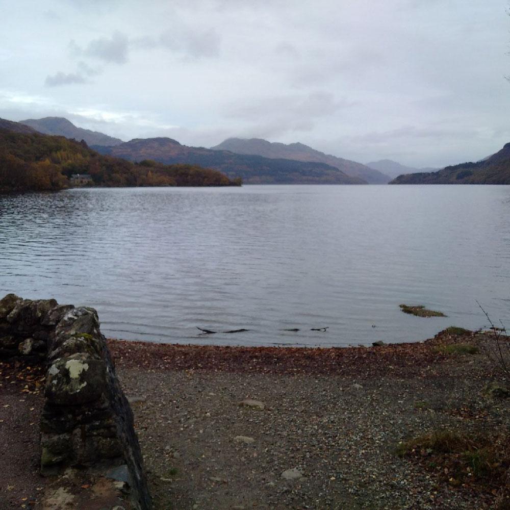 Enjoying a view of Loch Lomond