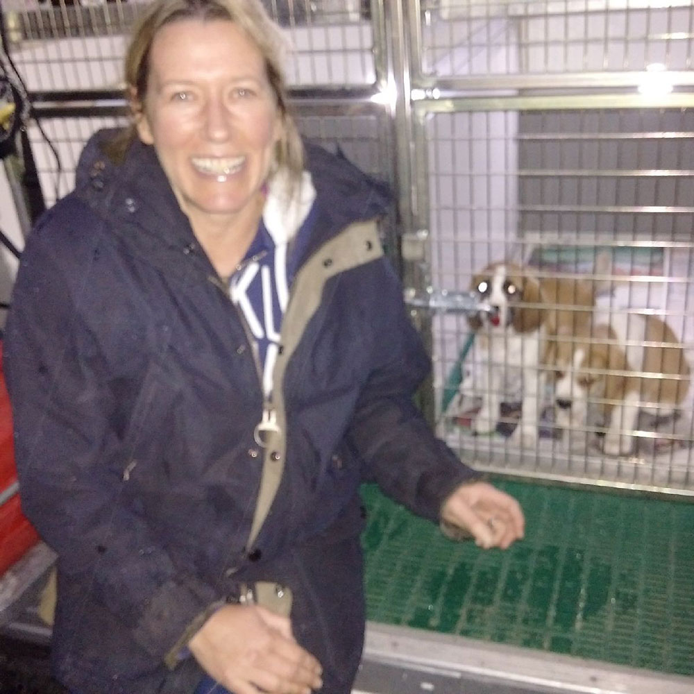 On a cold and wet night in Lincolnshire, excited owner Jen names the little girl Makololo