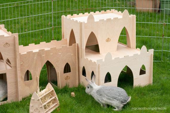 Casette per conigli e roditori in cartone e legno