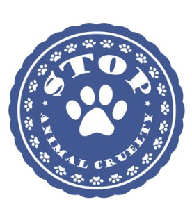 Stop Cruelty with Paw Print Badge