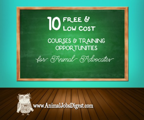 10 Free & Low Cost Courses & Training Opportunities for Animal Advocates