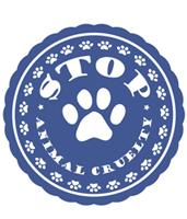Stop animal cruelty paw print