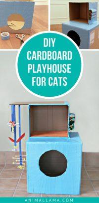 Easy DIY Cardboard Cat Playhouse | Animallama
