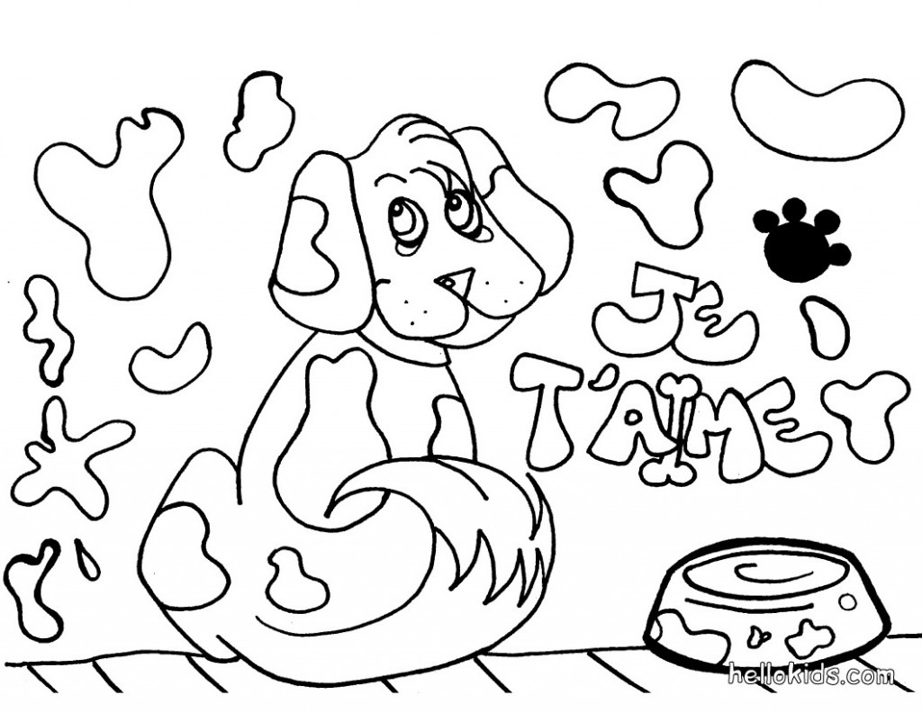 Dog Coloring Pages Photo Animal Place