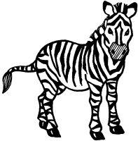 Zebra Coloring Pages for Kids Photos – Animal Place