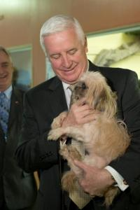 Former Pennsylvania governor Tom Corbett urged residents to license their dogs, but his administration did not strictly enforce his predessor's kennel licensing law.