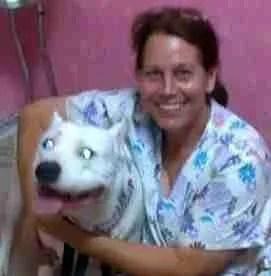 Beth in her vet tech days.