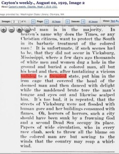 The Ku Klux Klan used pit bulls in lynchings, as described here by Cayton's Weekly.