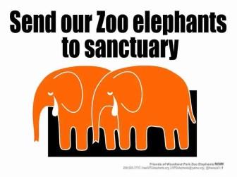 Friends of Woodland Park Zoo Elephants logo.