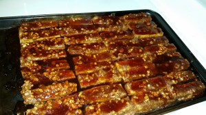 Barbequed tofu coming out of the oven. (Beth Clifton photo)