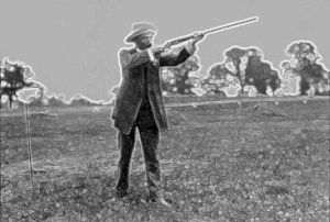 Pigeon shooting at the 1900 Paris Olympics.