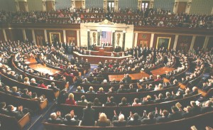 U.S. House of Representatives in session.