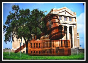 Old Neuces County Courthouse. (Beth Clifton collage)