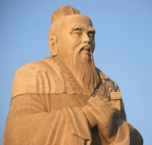 Statue of Confucius.