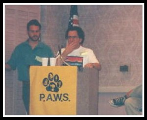 Mark Berman speaking at an event for the Performing Animal Welfare Society. (EII photo)