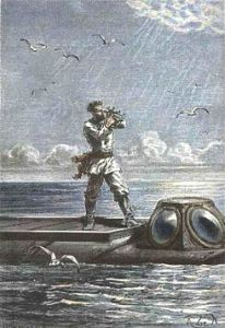 Captain Nemo, from first edition of 20,000 Leagues Under The Sea.