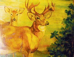 Mural painted in 1937 by Kurt Wiese, who had in 1929 illustrated the first U.S. edition of Bambi, by Felix Salten.