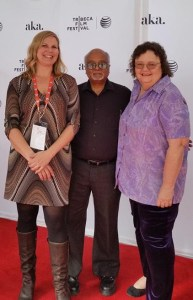 """Indian Point"" director Ivy Meerpool,  ""Energy Matters"" blogger Roger Witherspoon,  and anti-nuclear power activist Marilyn Elie at the Tribecca Film Festival."