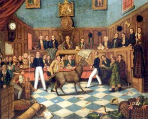 """""""Humanity Dick"""" Martin in 1824 won the first British cruelty conviction after presenting an abused donkey as evidence––trumpeted by the media of the day as having called the donkey as an expert witness."""