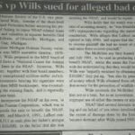 HSUS vp Wills sued for alleged bad debts