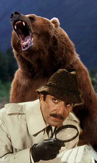 Bart the bear & Peter Sellers as Inspector Clousseau.