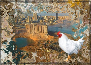 Beirut explosion and hen
