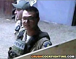 Clay County deputy sheriffs at cockfight