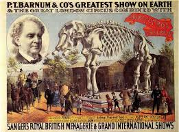 When elephants died, P.T. Barnum exhibited their bones.