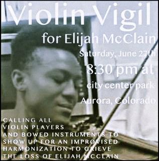 Elijah McClain plays the violin
