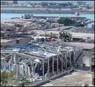 Explosion damage in Beirut