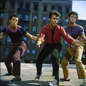 Not those bad PRs! (Sharks confront Jets, from film West Side Story)