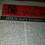 HSUS isn't talking