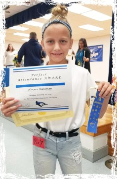 Harper Hansman gets award