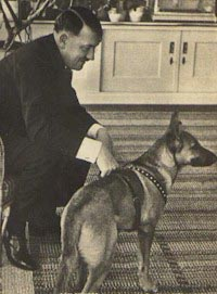 Hitler & Blondi.