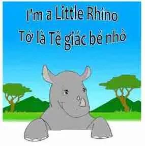 I am a little rhino photo