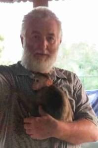 John Hicks, photographed at the Primate Trust India sanctuary in Goa, India, by Darshan Desai of PRAYAS, in Surat, India.