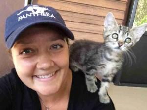 Jamie Veronica & friend at Big Cat Rescue. (Big Cat Rescue photo)