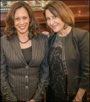 Kamala Harris and Susan Atherton