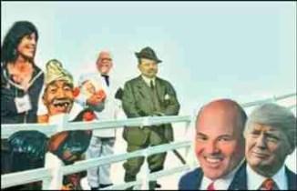 Karen Davis, Colonel Sanders, Trump, Louis DeJoy
