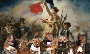 """From """"Liberty Leading the People,"""" a painting by Eugène Delacroix commemorating the July Revolution of 1830, which toppled King Charles X of France."""