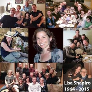 This collage appeared with many memorials to Lisa Shapiro.