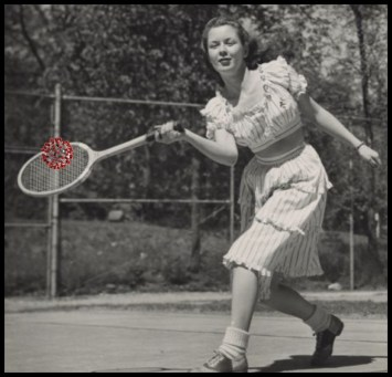 Margaret McGuire plays tennis with covid