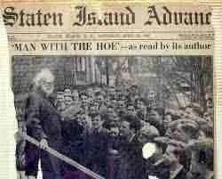 Edwin Markham orating in New York City.