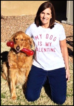 Martha McSally and dog Boomer