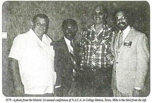 Unidentified, Wendell Ford, Mike Burgwin, and Phil Arkow, at NACA founding meeting in 1979. (NACA photo)