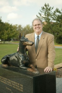 John New at War Dog Memorial. (University of Tennessee photo)