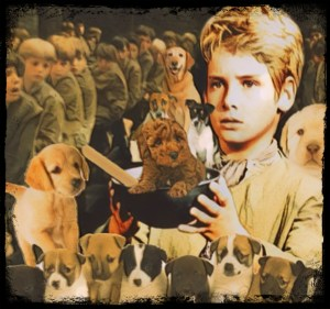 Oliver Twist with orphans and dogs